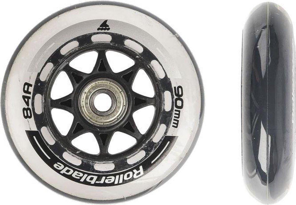 Rollerblade Wheelkit inline skate wielen met lagers (8 stuks) 90mm