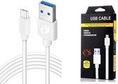 Olesit K110 TYPE-C USB-C Kabel 3 Meter Fast Charge 2.4A High Speed Laadsnoer Oplaadkabel - Data Sync & Transfer - Voor Sony / Motorola
