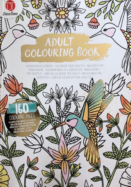 Afbeelding van Adult Colouring Book - Deco Time - Kleurboek voor volwassenen - 160 pagina's - Assorti levering