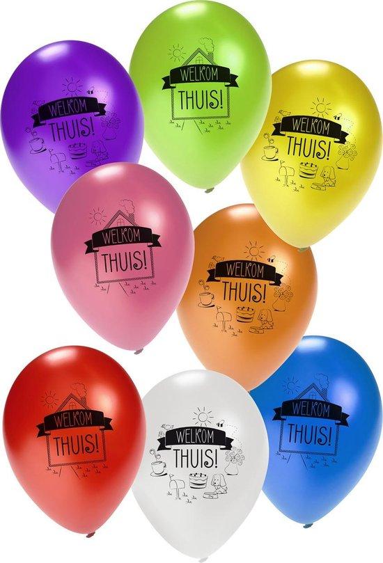 Ballon Welkom Thuis 8 stuks