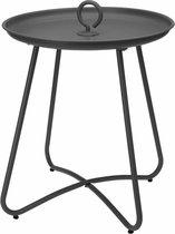 Ronde bijzettafel met haak - Antraciet tafeltje - Tafel