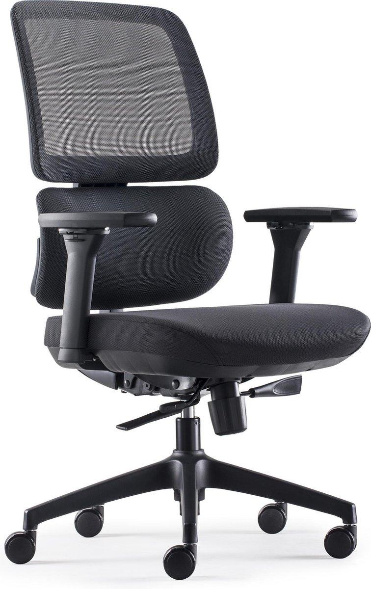 BenS 839-Ergo-4 - Bureaustoel - Mesh - Stof - Zwart - Ergonomisch, Voldoet aan EN1335 & ARBO normen