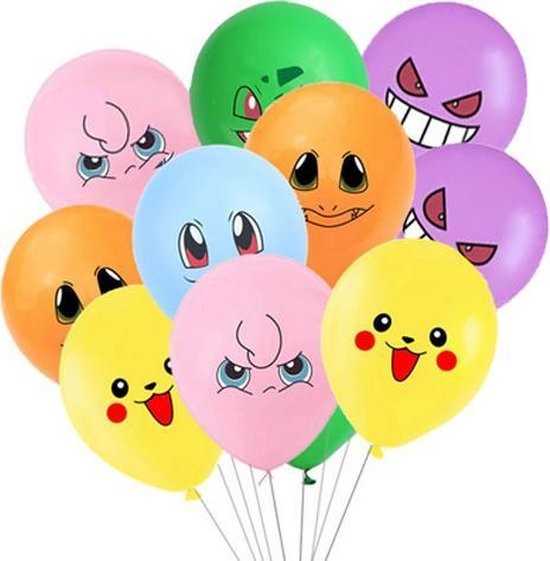 Pokemon ballonnen 12 stuks
