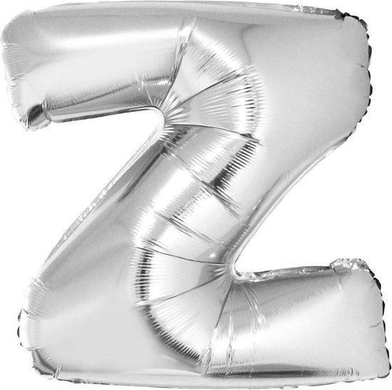 Grote folie ballon letter Z Zilver