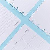 Planner pagina set los - A5 Uitwisbaar whiteboard planner/agenda pagin's - ATOMA - klik in en uit binding
