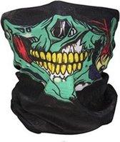 Balaclava Gezicht Shield Tactische Masker Groen * Special edition * 3D Schedel Sport Nek Warm Motor Masker Volgelaatsmasker Winddicht Motorfiets Mondkap Ski Outdoor Sport