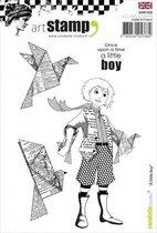 Carabelle Studio • cling stamp A6 a little boy