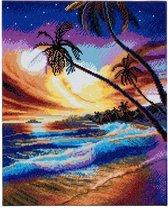 Diamond Painting Crystal Art Kit® Tropical Beach , 50x40cm, full painting