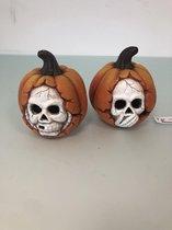 Halloween versiering met licht. ( 2 stuks )