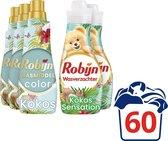 Robijn Kokos Sensation Wasmiddel en Wasverzachter - 63 wasbeurten - Voordeelverpakking