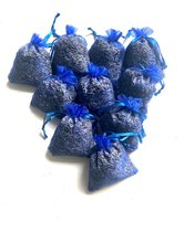 mini lavendel geurzakjes - 10 stuks - mini - 3 gram per zakje - koningsblauw - biologisch - anti insecten - anti motten - lavendelzakjes - INCLUSIEF 1 EXTRA BONUS ZAKJE