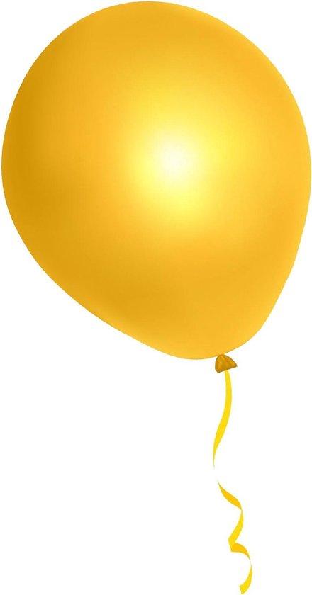 500 stuks gele ballonnen - decoratie - latex - helium - feest - geel - ballon