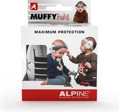 Alpine Muffy Baby Gehoorbescherming - Verstelbaar - SNR 23 dB - Zwart