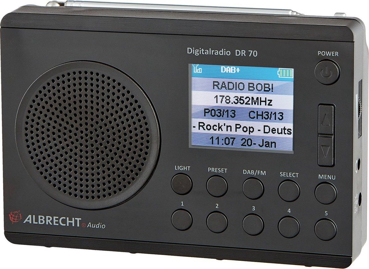 Albrecht DR70 DAB+ en FM radio
