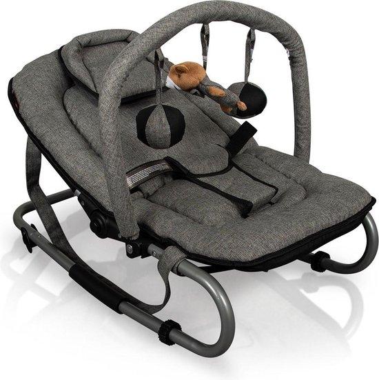 Product: Baninni Wipstoel met speelboog - Schommelstoel - Baby Relax - Admiro Grijs, van het merk Baninni