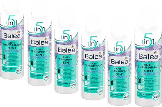 DM Balea Deodorant Anti-transpirant 5-in-1 | 6-pack (6 x 200 ml)