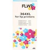FLWR - Inktcartridge / HP 364 XL / 4-pack Zwart & Kleur