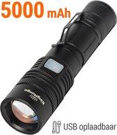 Zaklamp LED Oplaadbaar USB 5000 mAh Militaire Zaklamp 1200 Echte Lumen KM-55