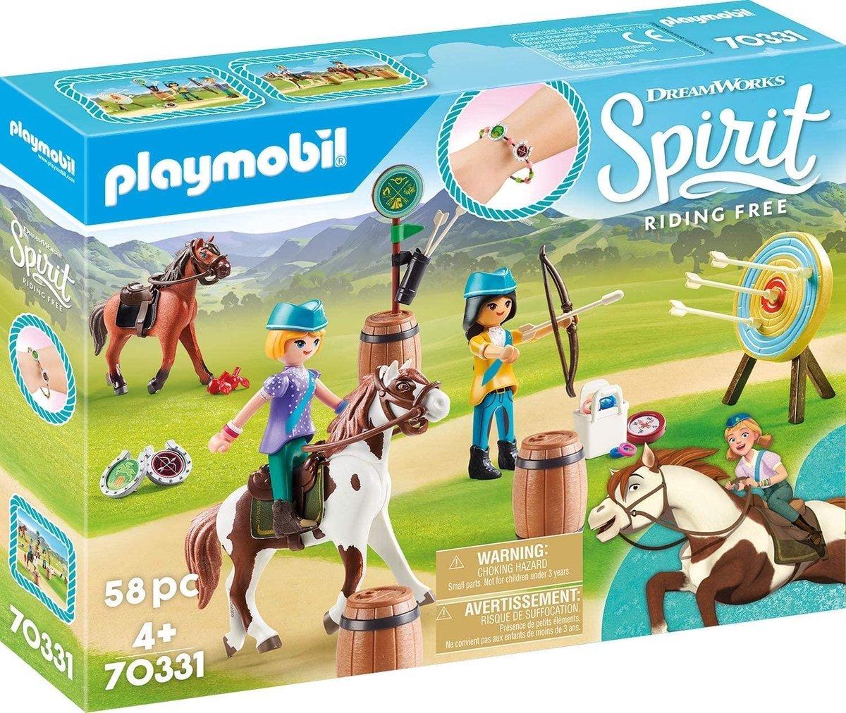 PLAYMOBIL Spirit Boogschieten te paard - 70331