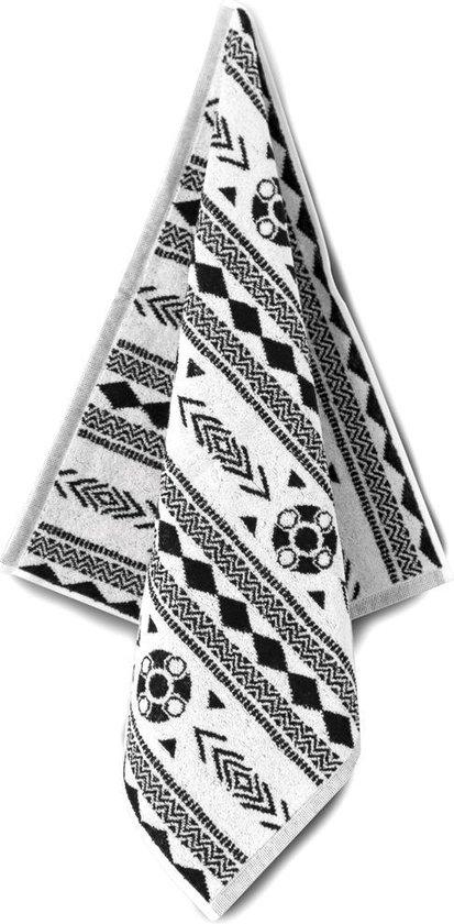 Proenk.nl - Hand/keukendoek Zeeuws schortenbont zwart/wit