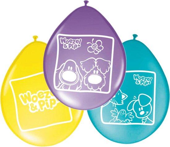 Woezel & Pip Feest Ballonnen Mint / Geel / Paars (8ST)