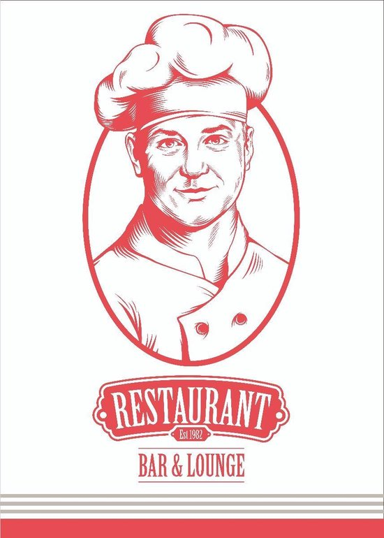Clarysse Theedoeken Restaurant Rood 50x70cm 6 stuks