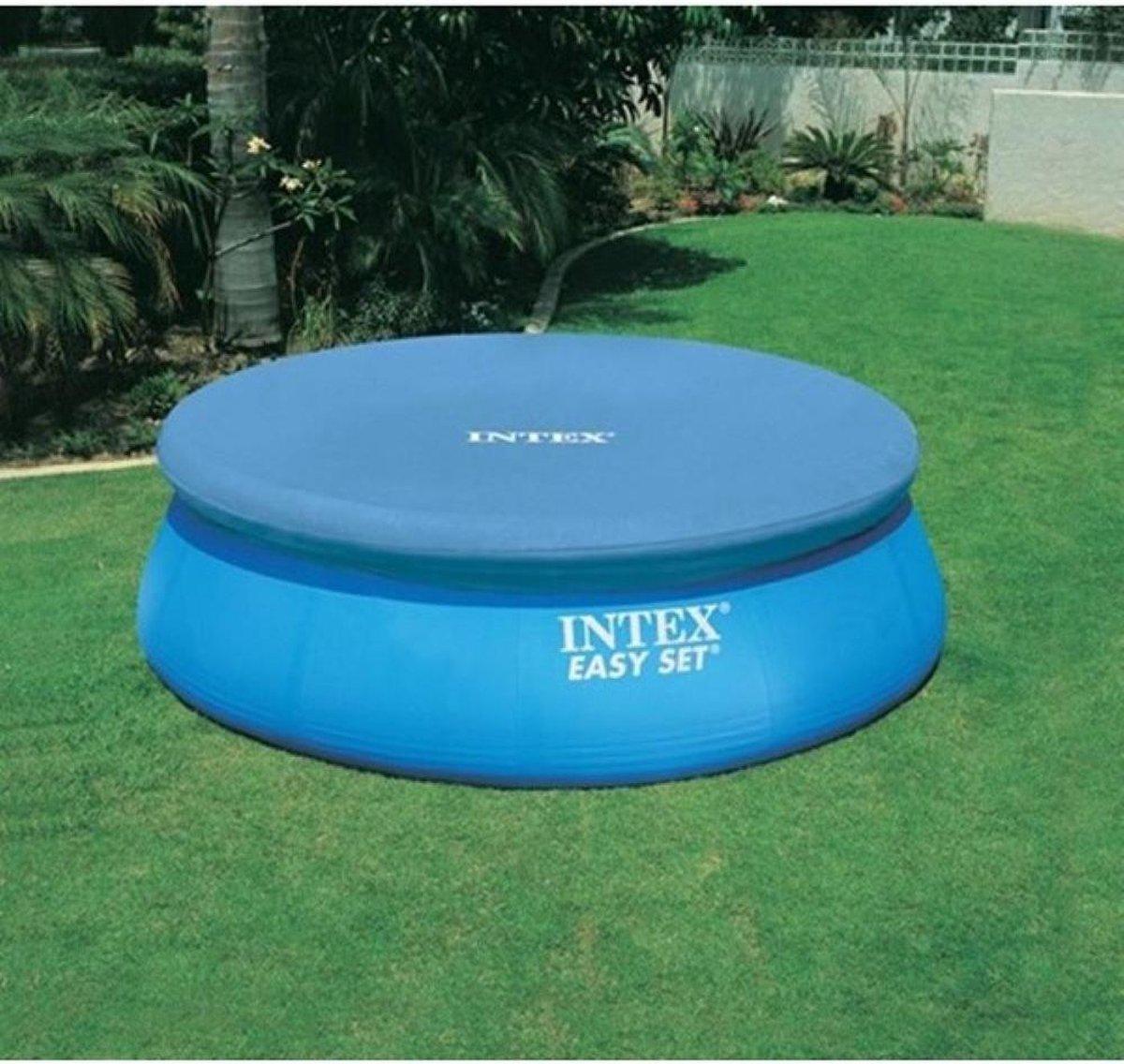 Intex Easy Set zwembad 305 - Alles in 1 - Inclusief filterpomp + Afdekzeil + Solar cover + Waterbehandelingsset!