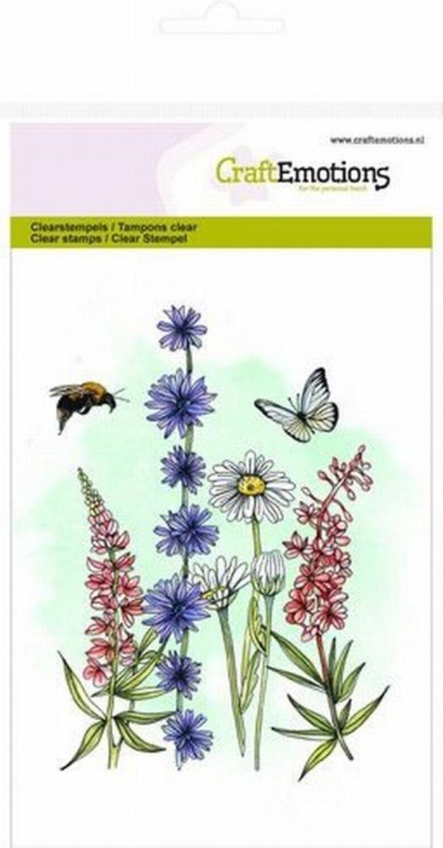 CraftEmotions clearstamps A6 - veldbloemen 2 GB