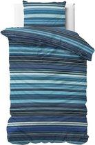 Sleeptime James Dekbedovertrek - Eenpersoons - 140x200/220 + 1 kussensloop 60x70 - Blauw