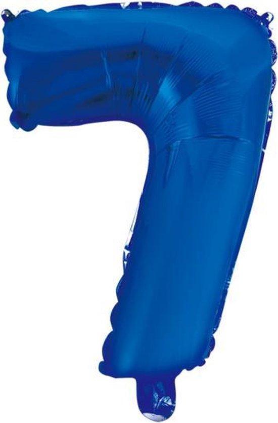 Folieballon 7 jaar blauw 86cm