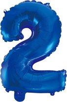 Folieballon 2 jaar blauw 86cm