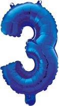 Folieballon 3 jaar blauw 86cm