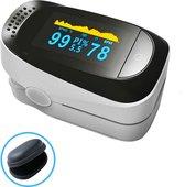 KingsPower Professionele Oximeter Saturatiemeter - Digitale Hartslagmeter - Zuurstofmeter - Zuurstofgehalte Bloed- Pulse Oximeter - Perfusie - Sp02
