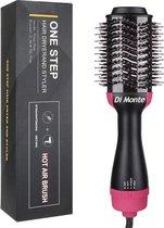 Di Monte 3-in-1 Hairdryer & volumizer - magic brush - One Step Ionen Droger en Volumizer - Multistyler voor Kort/Lang/Stijl/Krullen - Keramische Haar/Stijl/Krul Borstel voor Volume en drogen - 1000W