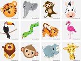 60 stuks KINDER TATTOOS  JUNGLE diertjes / uitdeel cadeautjes / FUN artikel / kinderfeestje