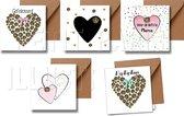 Valentijnskaart - Lieve kaarten - hartjes kaart - lief - hartjes - Zeeuws knopje - Zeeland