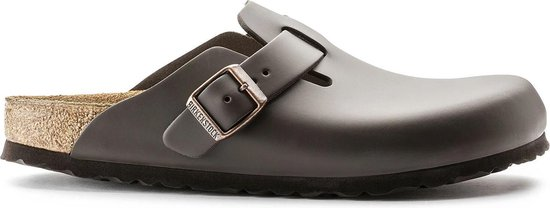 Birkenstock Unisex Natuurleer donker bruin slipper - maat 36