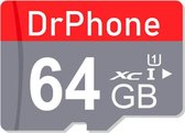 DrPhone - 64GB  Micro SD Kaart Opslag - High Speed Klasse 10 - Premium Opslag