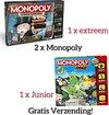 Afbeelding van het spelletje Monopoly Bundel ! / Monopoly Extreem Bankieren - Bordspel + Monopoly Junior - Bordspel
