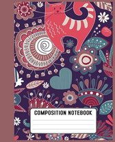 Composition Notebook: This large has 110 of quality white paper