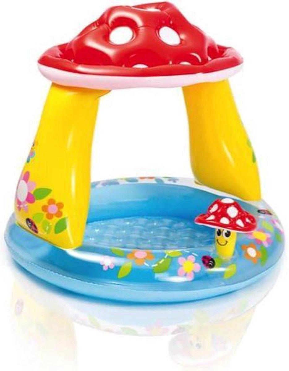Intex Baby Zwembad| 102 cm - Paddenstoel - Zonnedakje - Zomer