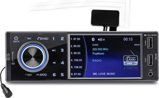 Caliber RMD402DAB-BT - autoradio met DAB+ en Bluetooth - Zwart