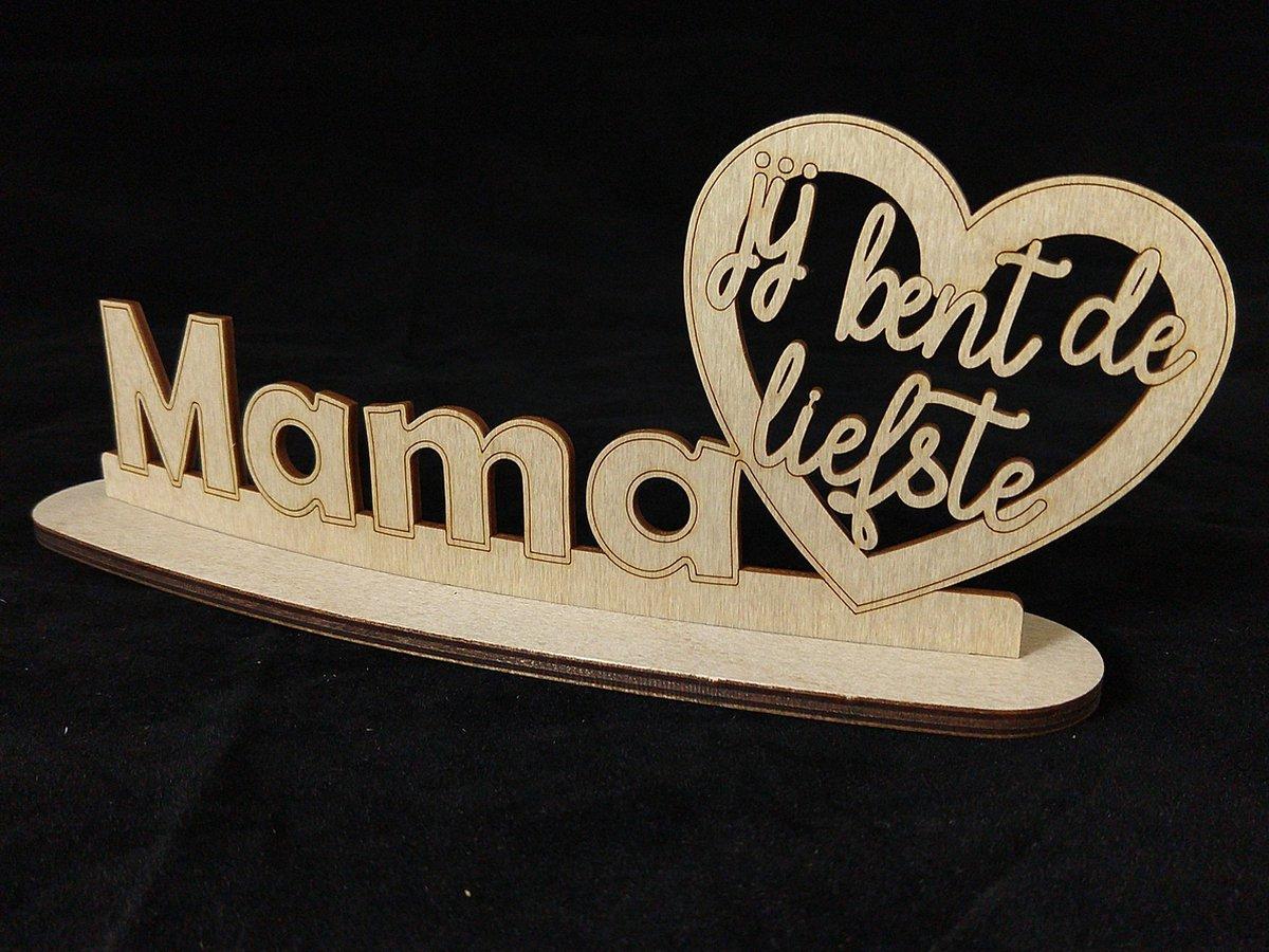 Tekstbord op Voetstuk - Mama je bent de liefste