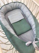 Babynestje (set) Oud groen grijs