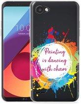 LG Q6 Hoesje Painting
