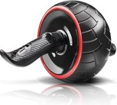 Strong at home - Ab wheel roller met kniemat voor het trainen van je bovenlichaam, gebruik het trainingswiel voor je buikspieren als fitness apparaat - Inclusief instructies