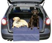 Kofferbak beschermhoes met bumper bescherming voor de auto| Honden - Kofferbak - Blauw