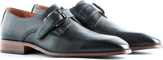 Travelin Stansted Leather - Heren instapper met gesp - Leer - Zwart - Maat 43