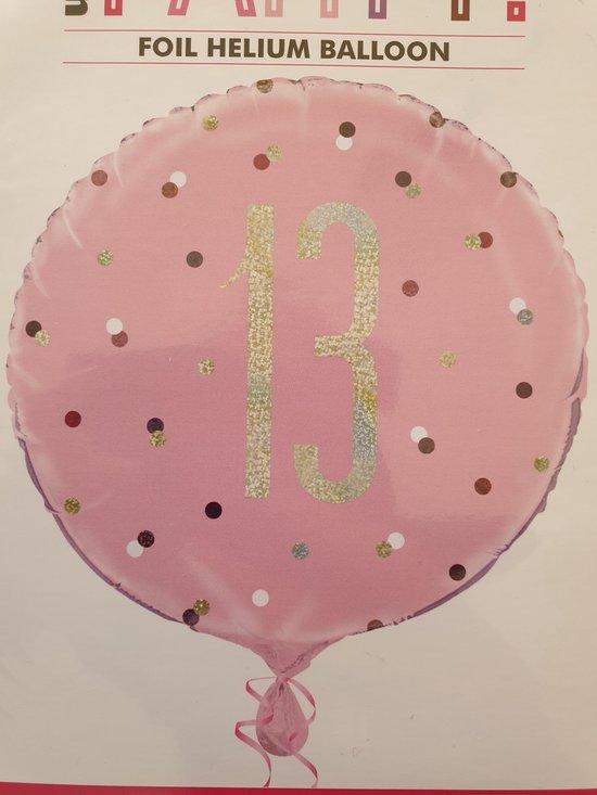 Folieballon 13 jaar