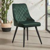 Groene velvet stoel